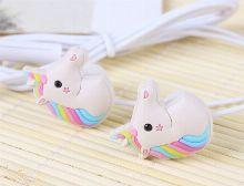 Unicorn earphones for kids - red kids earphones