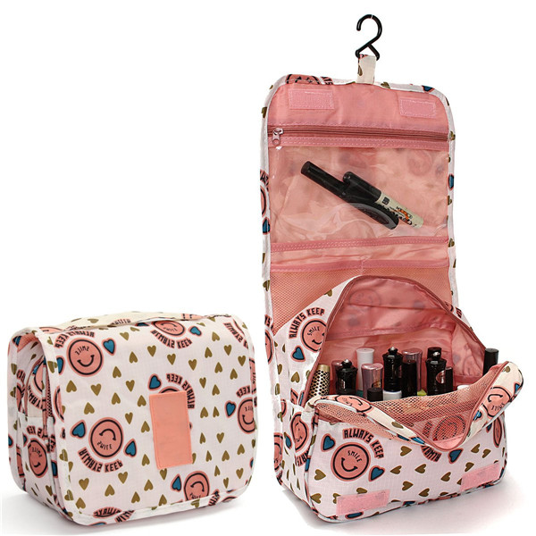 TripleClicks.com Zipper Hanging Toiletry Bags Floral Pattern Travel Organizer Case Women ...