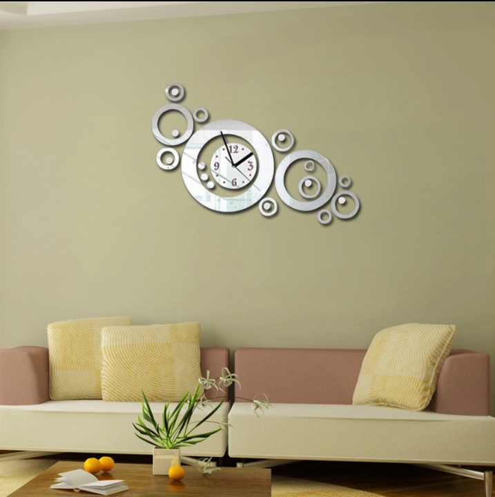 3d mirror wall decoration acrylic clock for 3d acrylic mirror wall sticker clock decoration decor