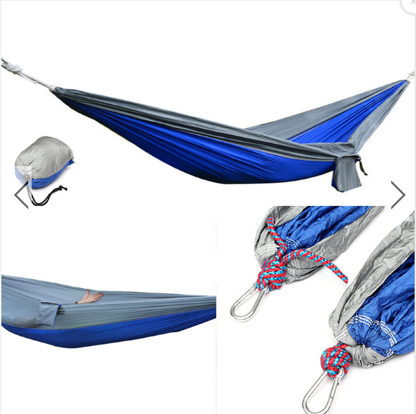 TripleClicks.com: 270x140CM Portable Parachute Hammock