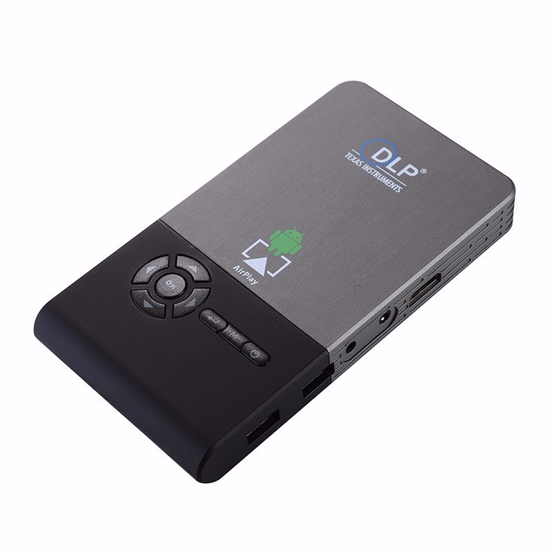 Mini projector wifi smart dlp full hd gm60 bluetooth projector hdmi usb vga for Small bluetooth projector