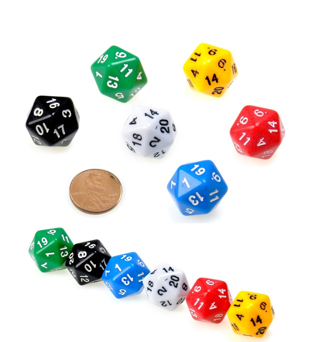 32 mm 20 sided dice simulator d20