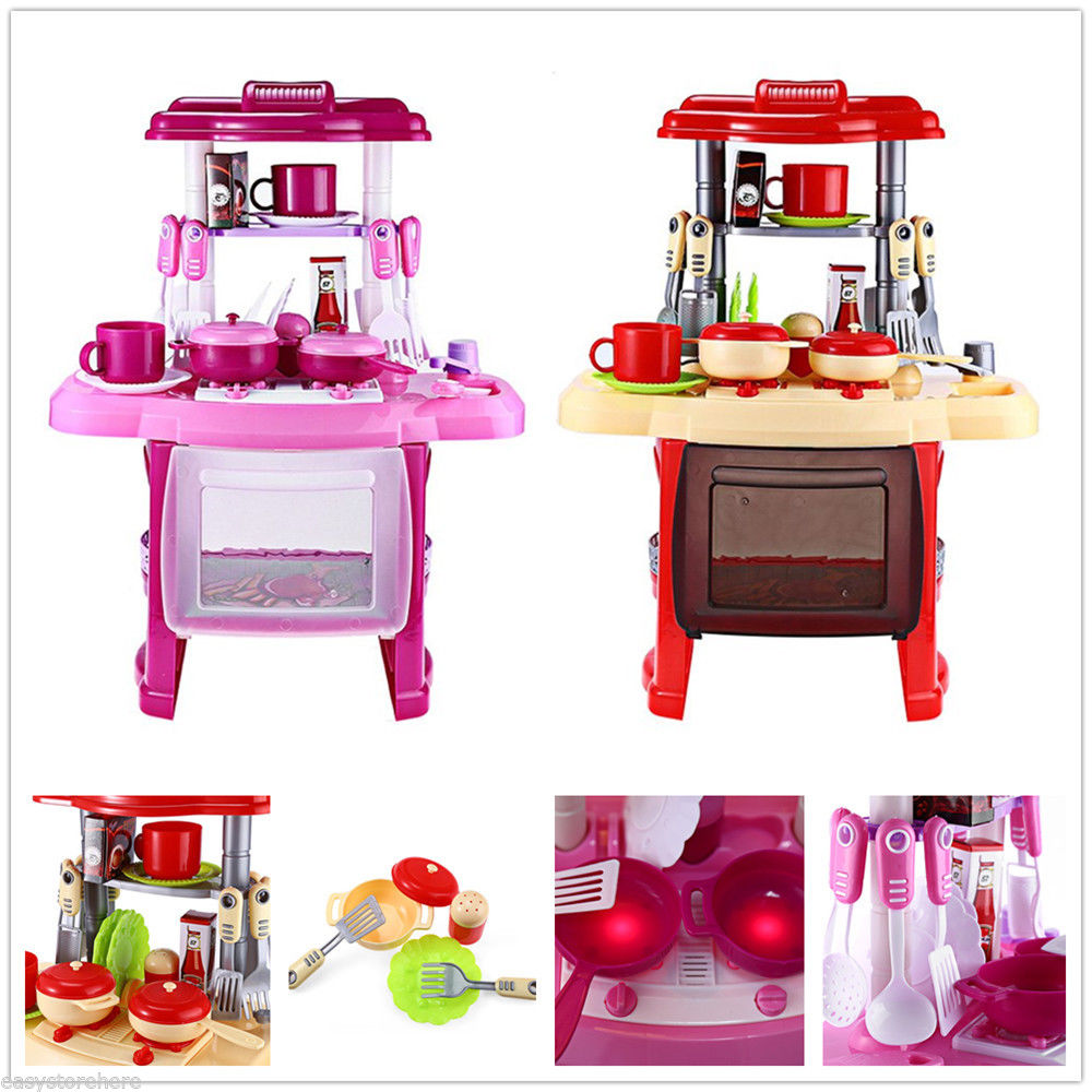 New portable electronic children kids for Kitchen set portable